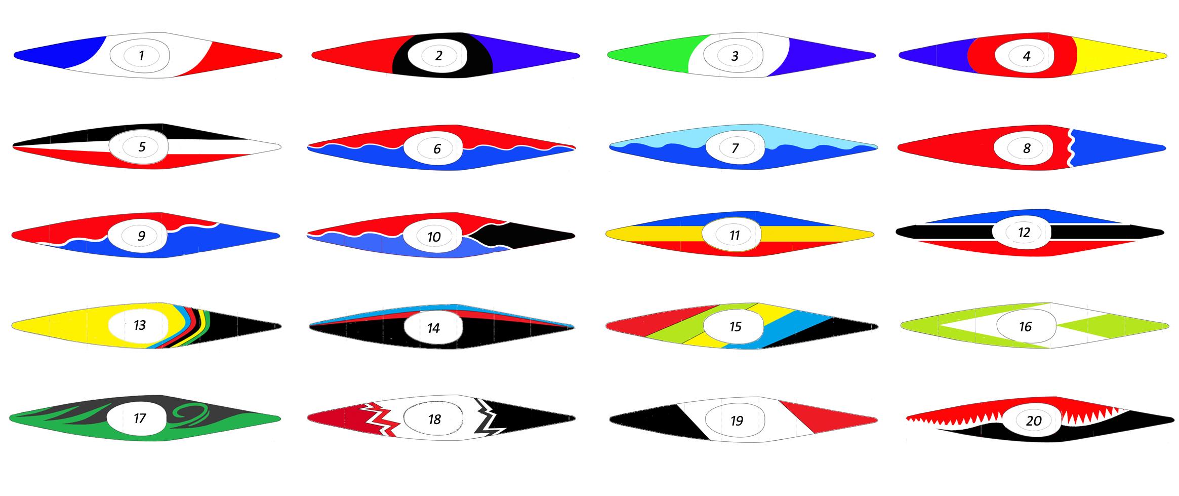 Designideen Kanuslalom K1 C1 Orbit Racing